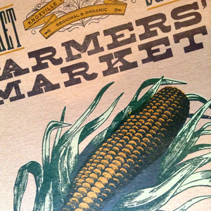 Made in Ohio featuring vintage woodtype 11x17 Farmers Market Print vegetable Corn on the Cob Letterpress Poster Aw Shucks