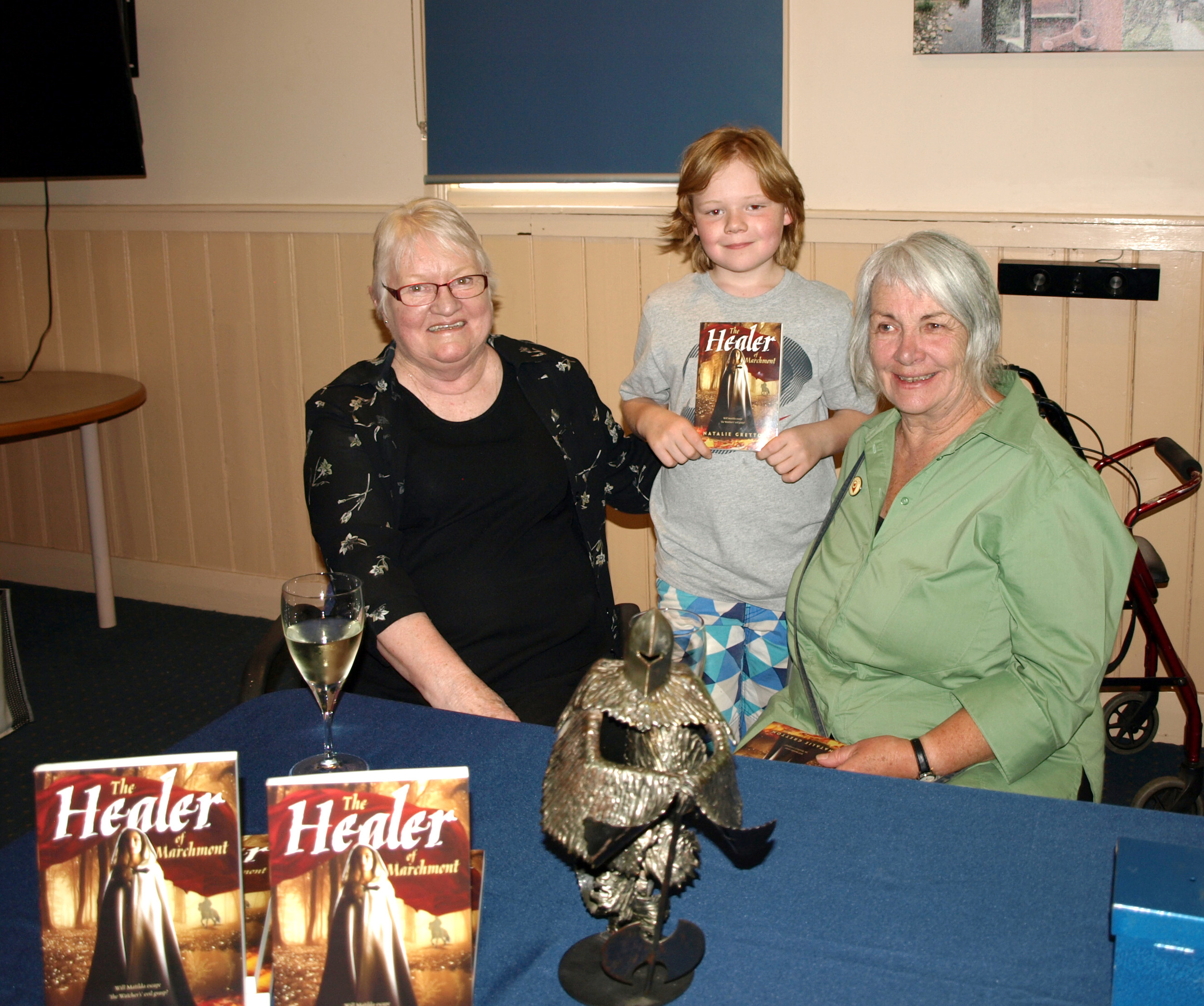 Natalie, Charlie, Diane and The Ghost Warrior who was the inspiration for the story