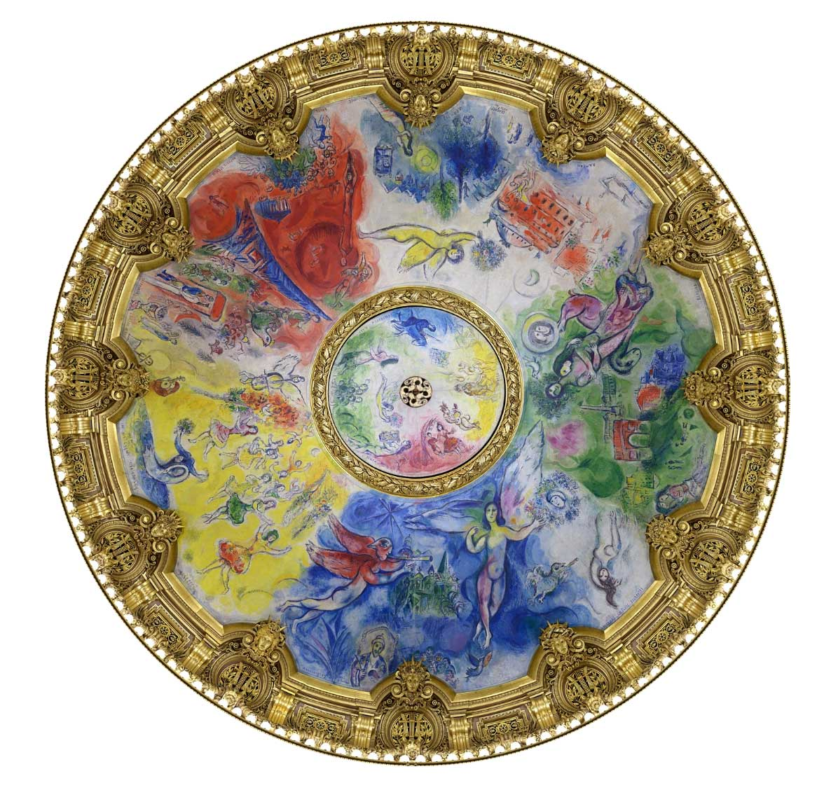 Marc Chagall's Ceiling for the Paris Opéra, from the Google Image Project.