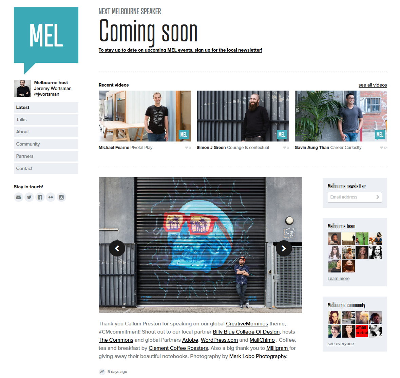 CreativeMornings Melbourne