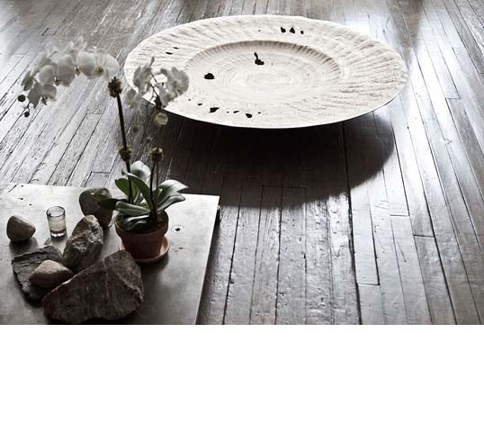 Double Walled Large Rimmed Plate III / baltic birch; 48 in x 48 in