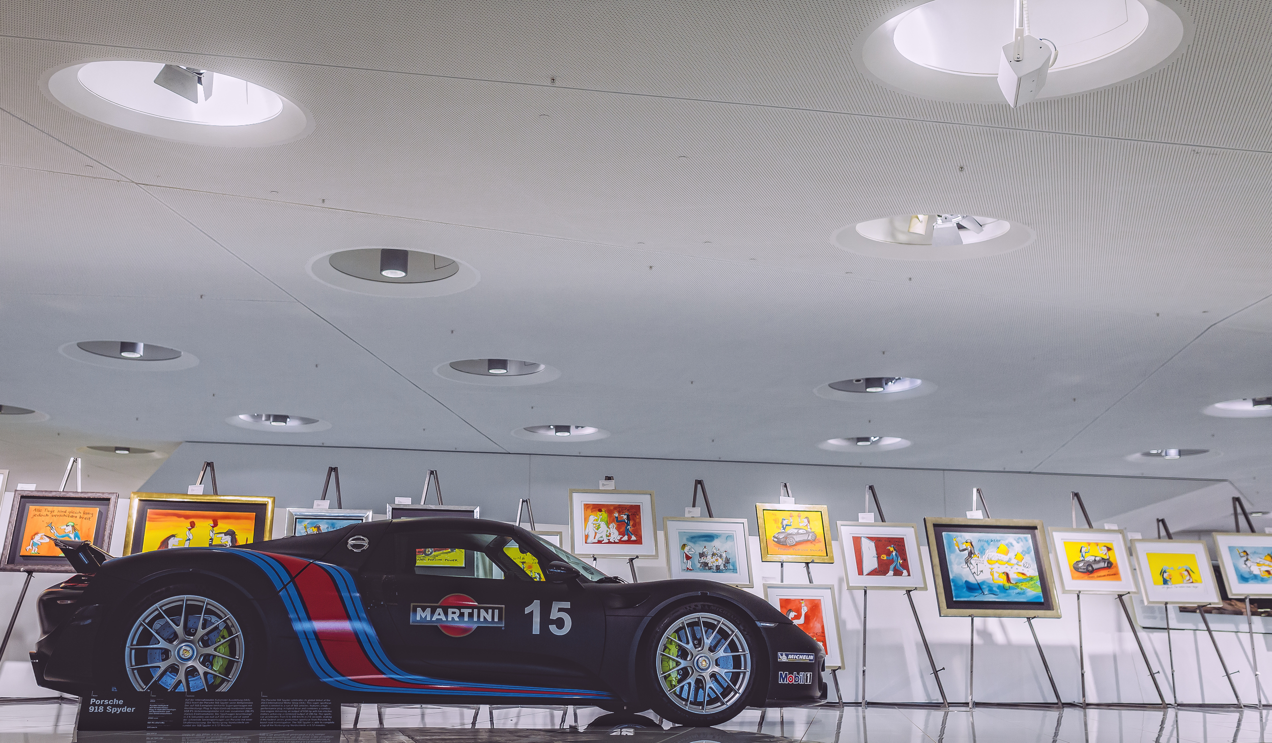 Porsche 918. All sold. Average Price $1.1 Million. 887 HP. Porsche Museum, Stuttgart.
