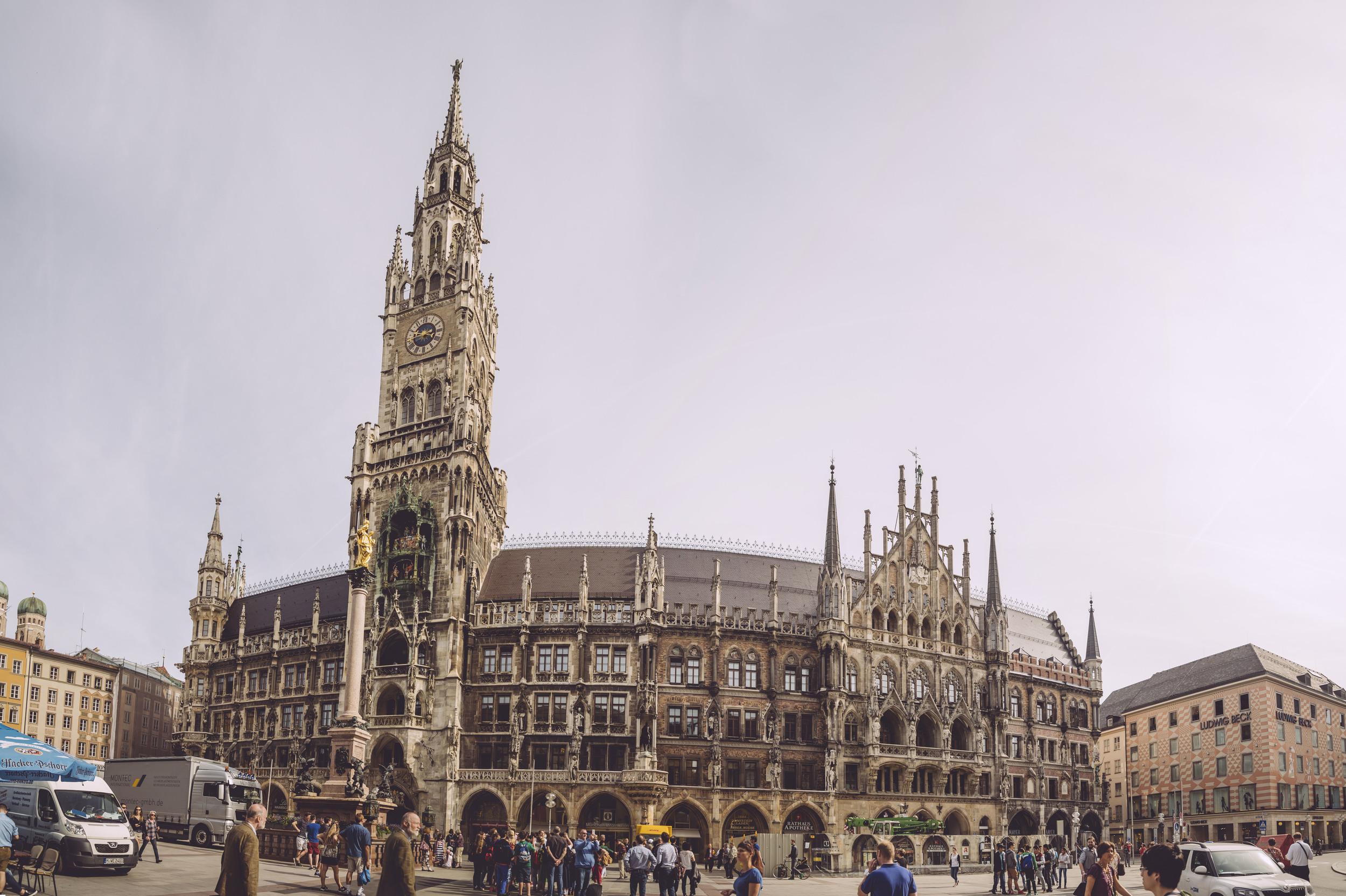 Downtown Munich.