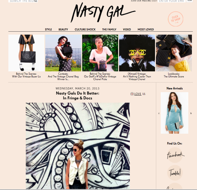 NASTY GAL, MARCH 2013