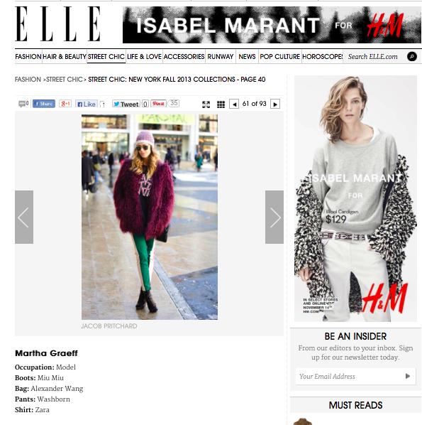 ELLE.COM, AUG 2013