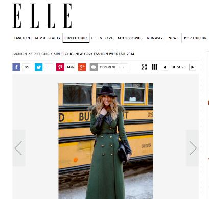 Elle, NYFW February 2014