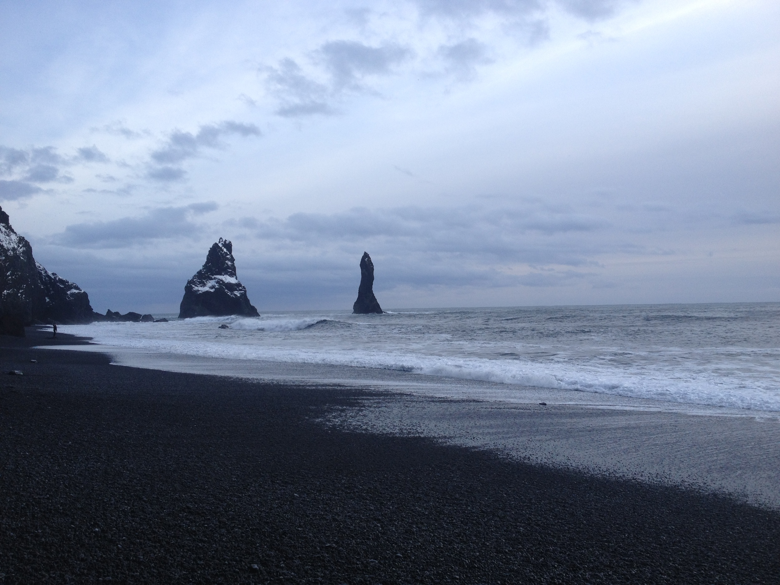 Black Sand Beaches near  Vík.