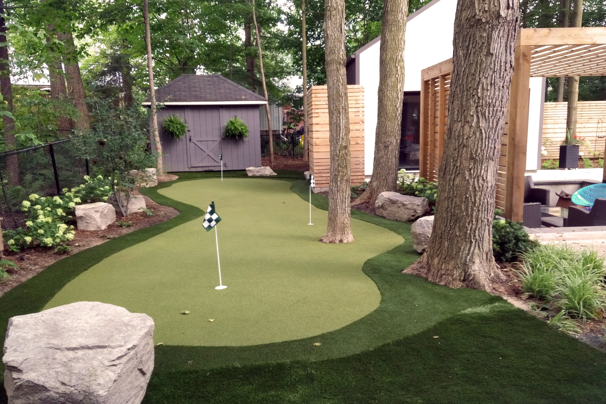 Lawn Sports Yard Mini Putt golf green backyard