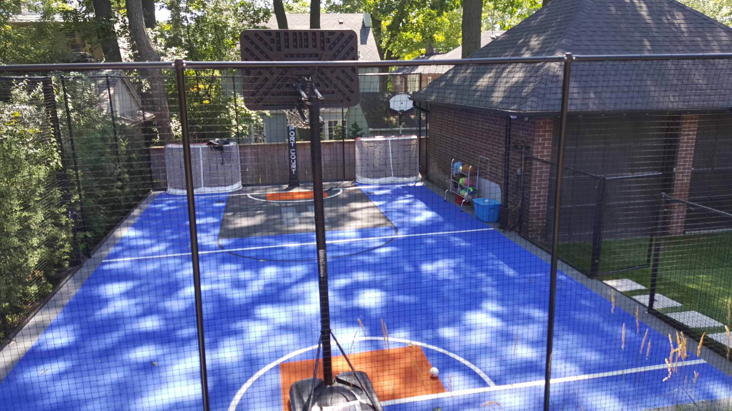 rear yard sports court