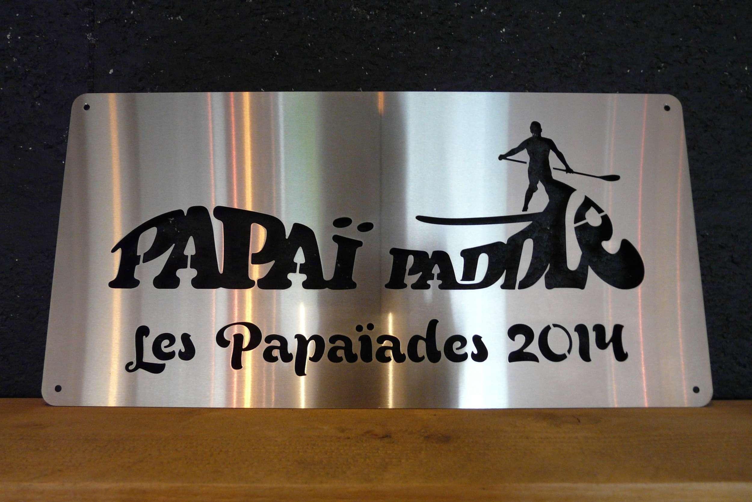 """Plaque trophée """"Papaï Paddle"""""""