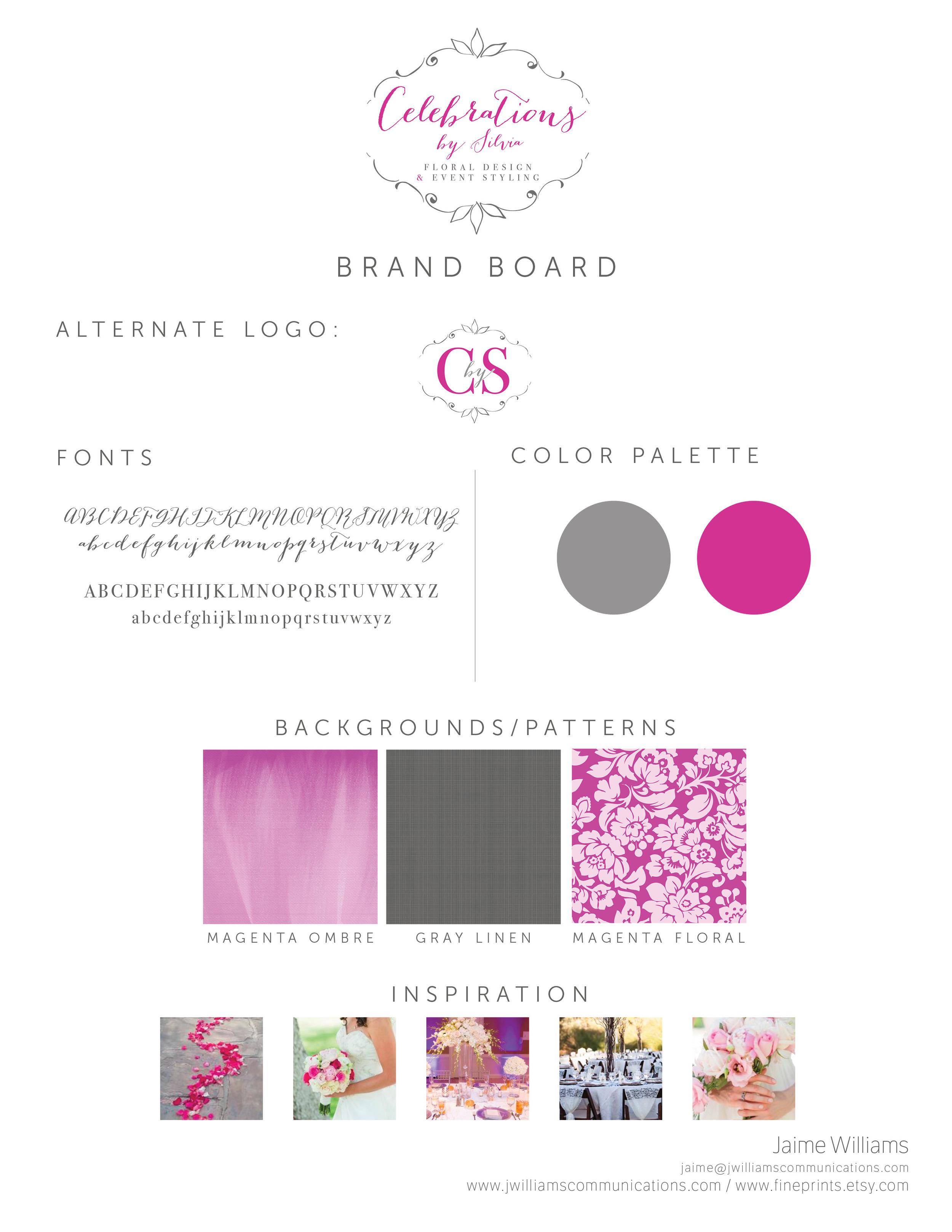 floral designer logo and branding design by jwilliamscommunications.com