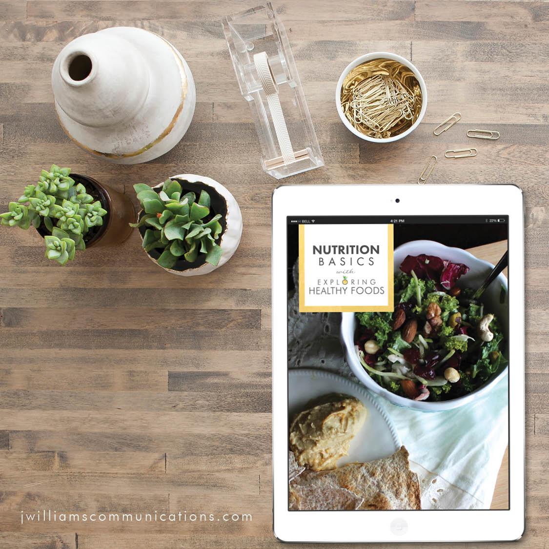 exploring healthy foods Nutrition Basics guide / eBook design