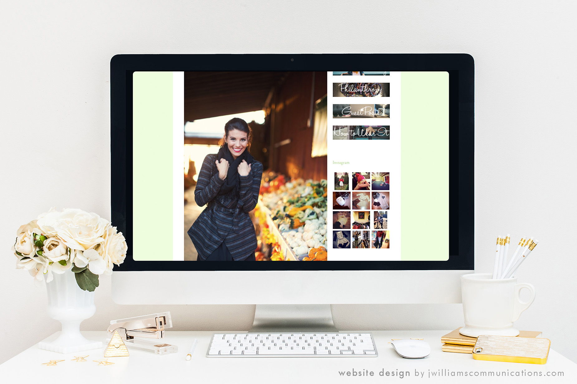 Website Design for Single Thread Boutique Blog