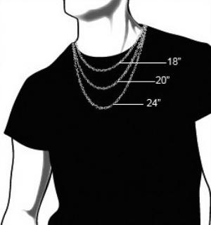 Men's necklace length