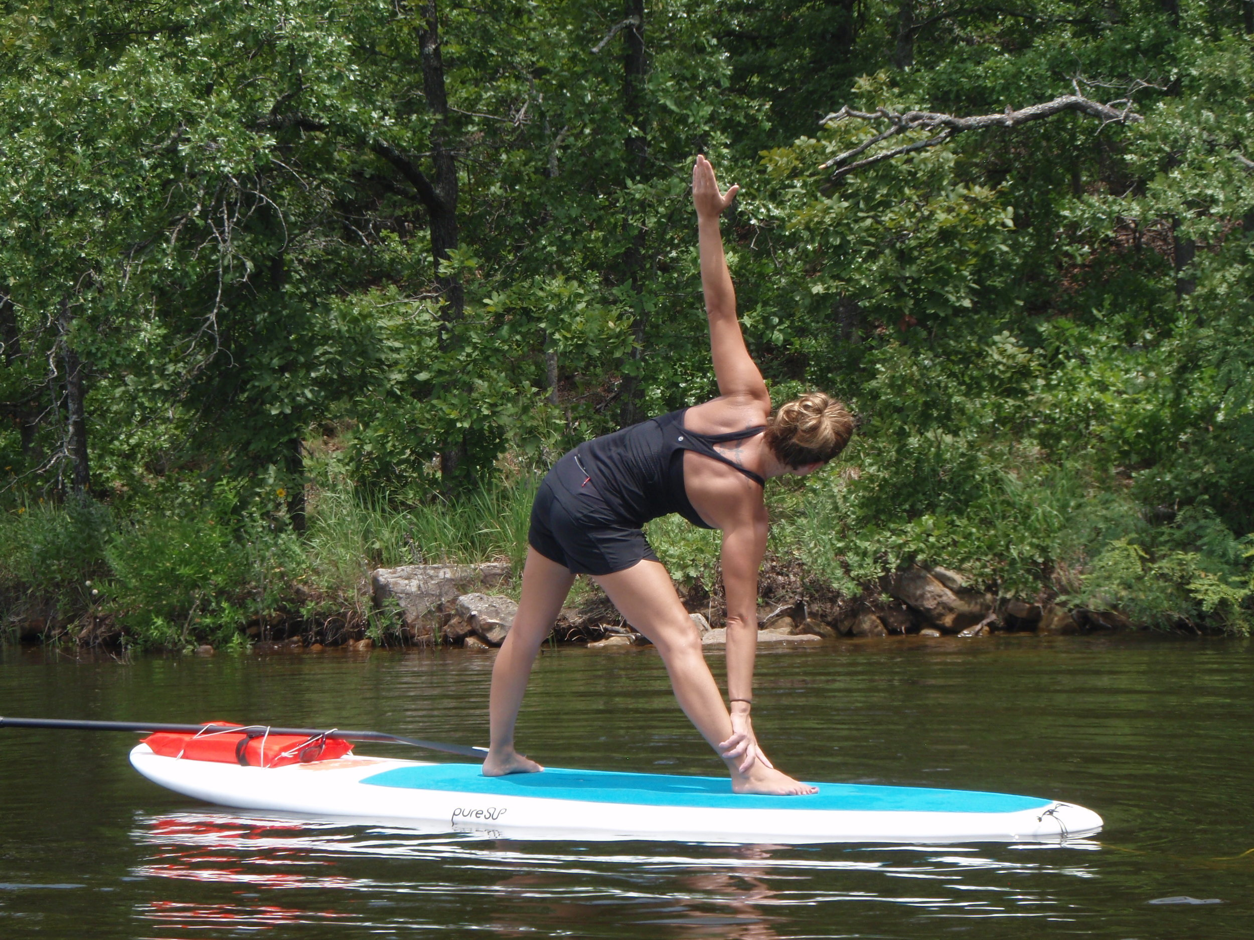 Rising Lotus - SUP Yoga 1 & 2  Learn the basics of SUP, paddle out for flowing asana on the water, enjoy a floating savasana and paddle back feeling like new! Great for SUP & SUP Yoga newbies, while still fun and challenging for pros.