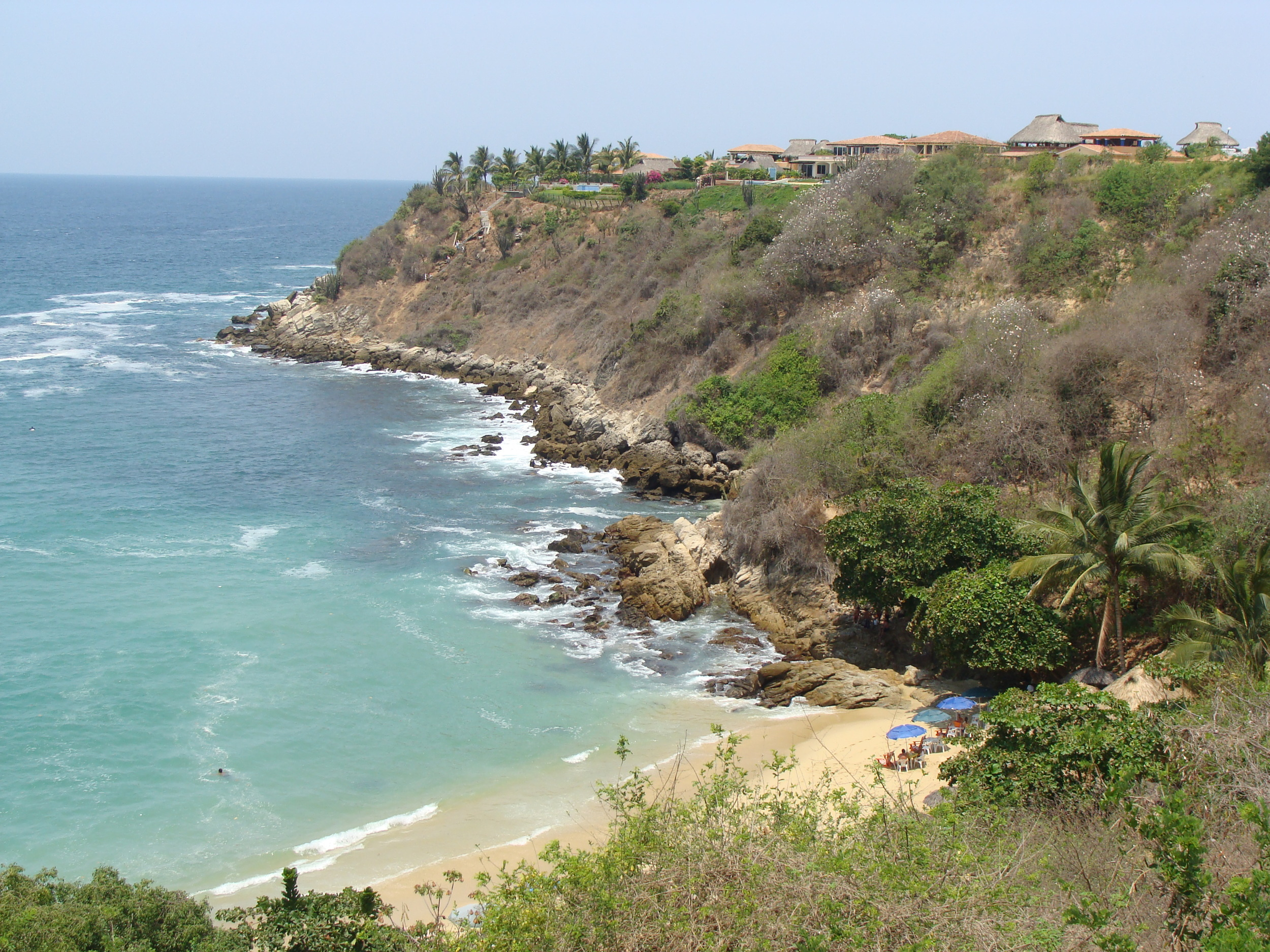The Oaxacan coast line