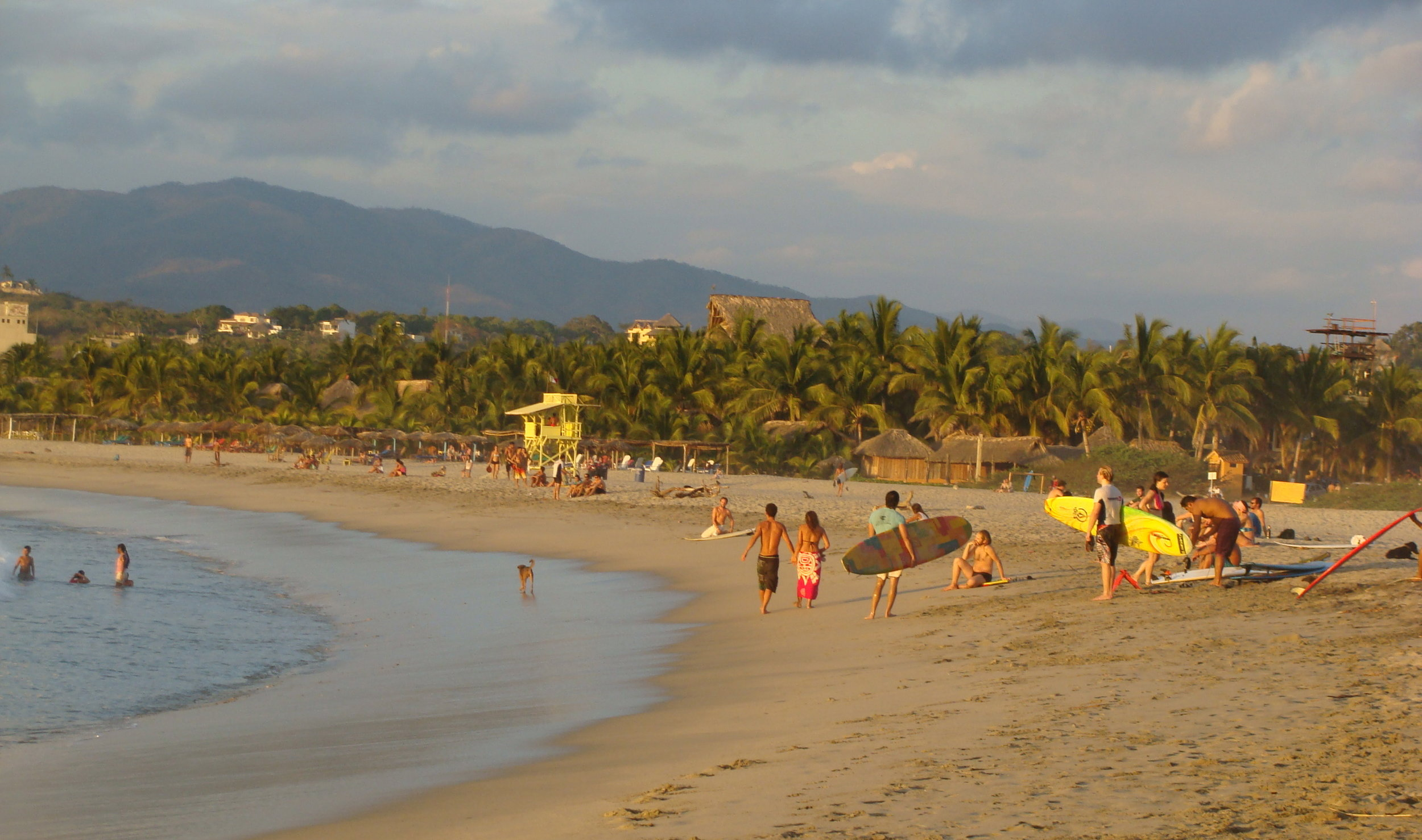 La Punta de Zicatela Beach is just steps from the accommodations included in your Surf Package