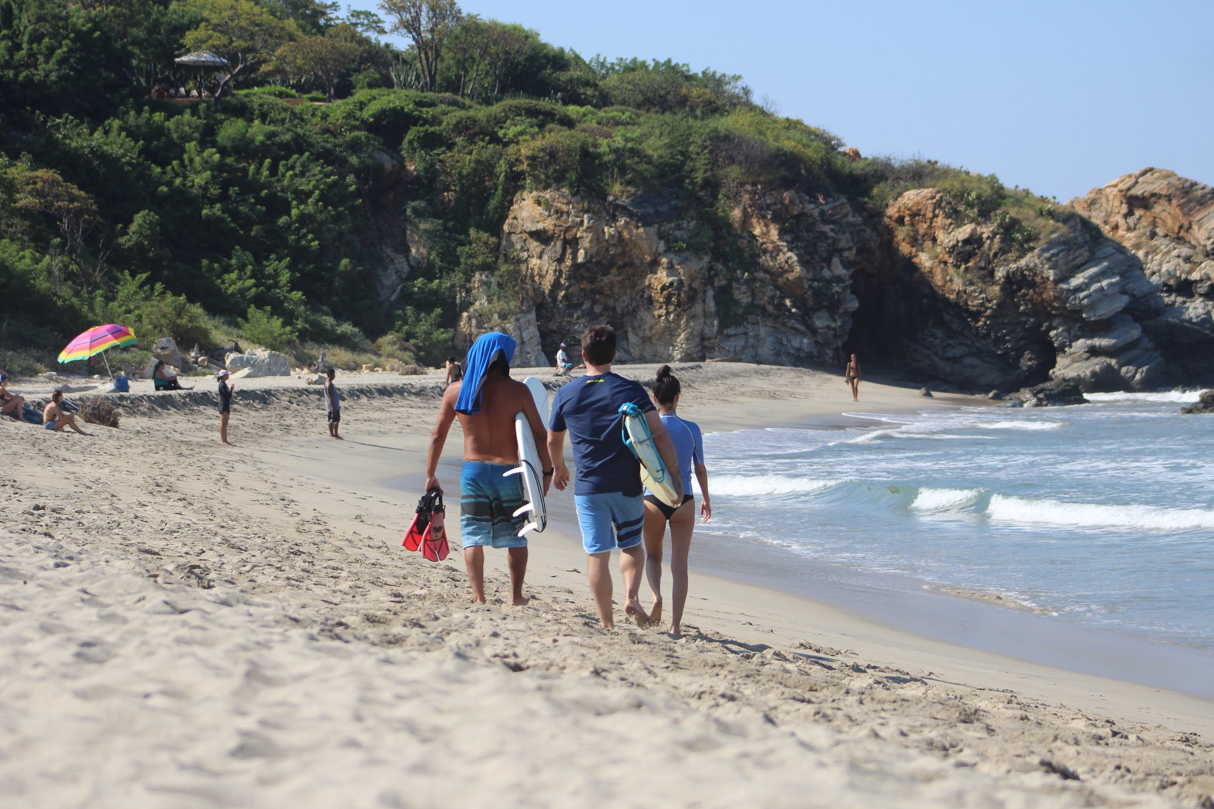Enjoy your surf vacation in Puerto Escondido with private-to-your-group surf lessons