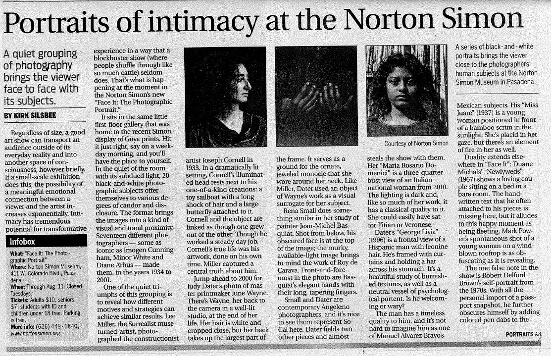 LA Times Review of Norton Simon Show, April 2, 2014