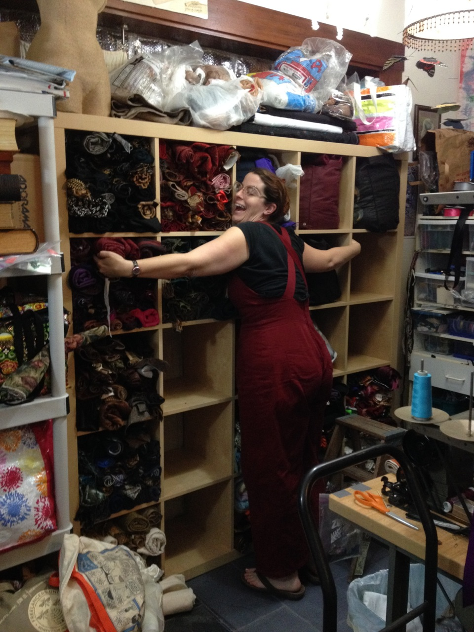 Katherine loves how much room there is for fabric!