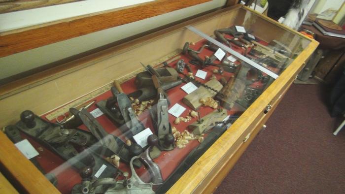 One of many exhibit cases
