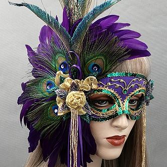 La Jolie Mardi Gras Masquerade Mask Thumb