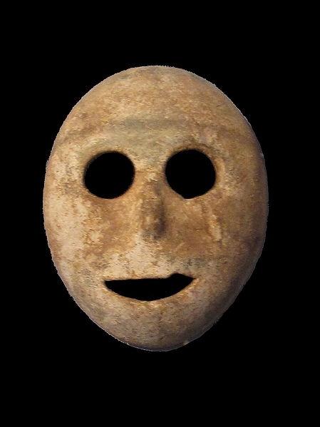 Neolithic stone mask (c. 7000 B.C.)