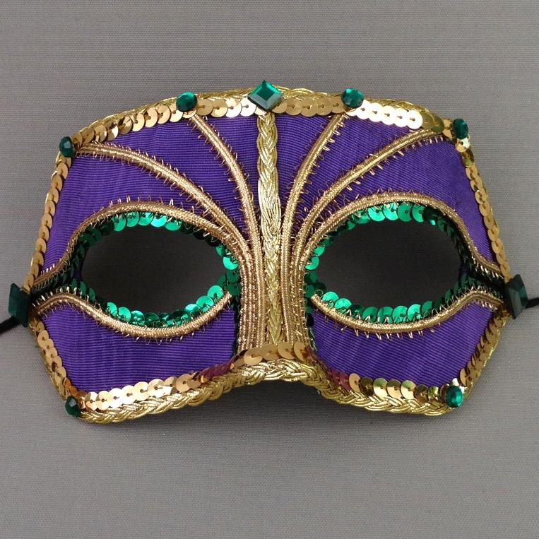 Peacock Companion Mardi Gras Masquerade Mask Thumb