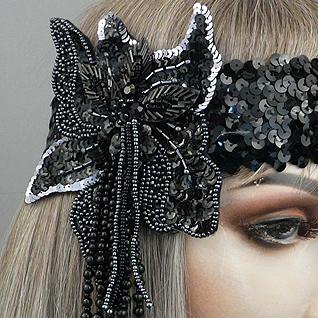 Soirée Gatsby Flapper Headband Close
