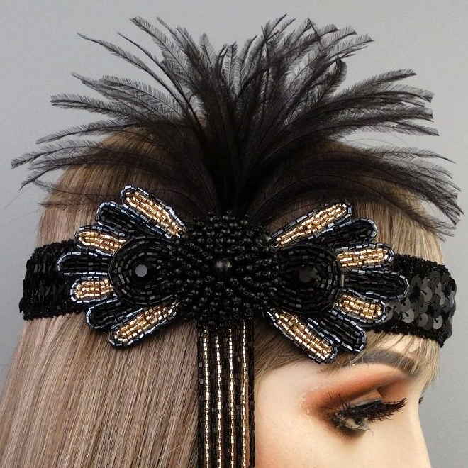 Sasha Gatsby Flapper Headband Close