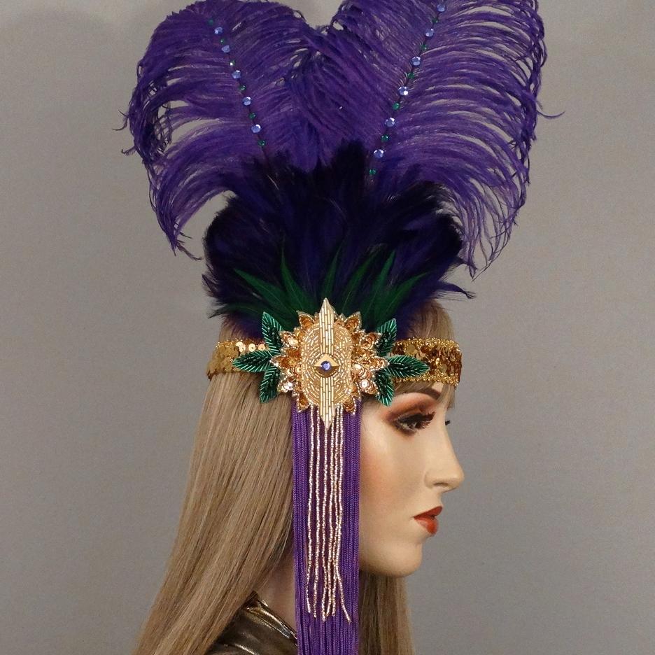 Queenie Gatsby Flapper Headband Thumb