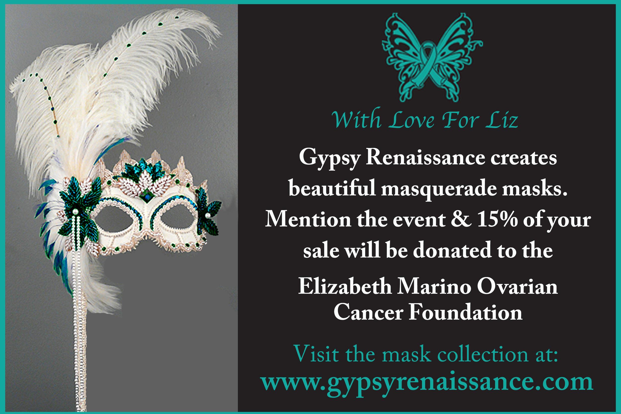 Customized invitation image for Elizabeth Marino Ovarian Cancer Foundation