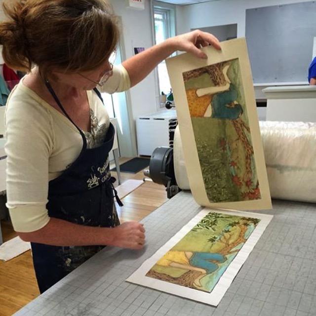 making collagraph prints