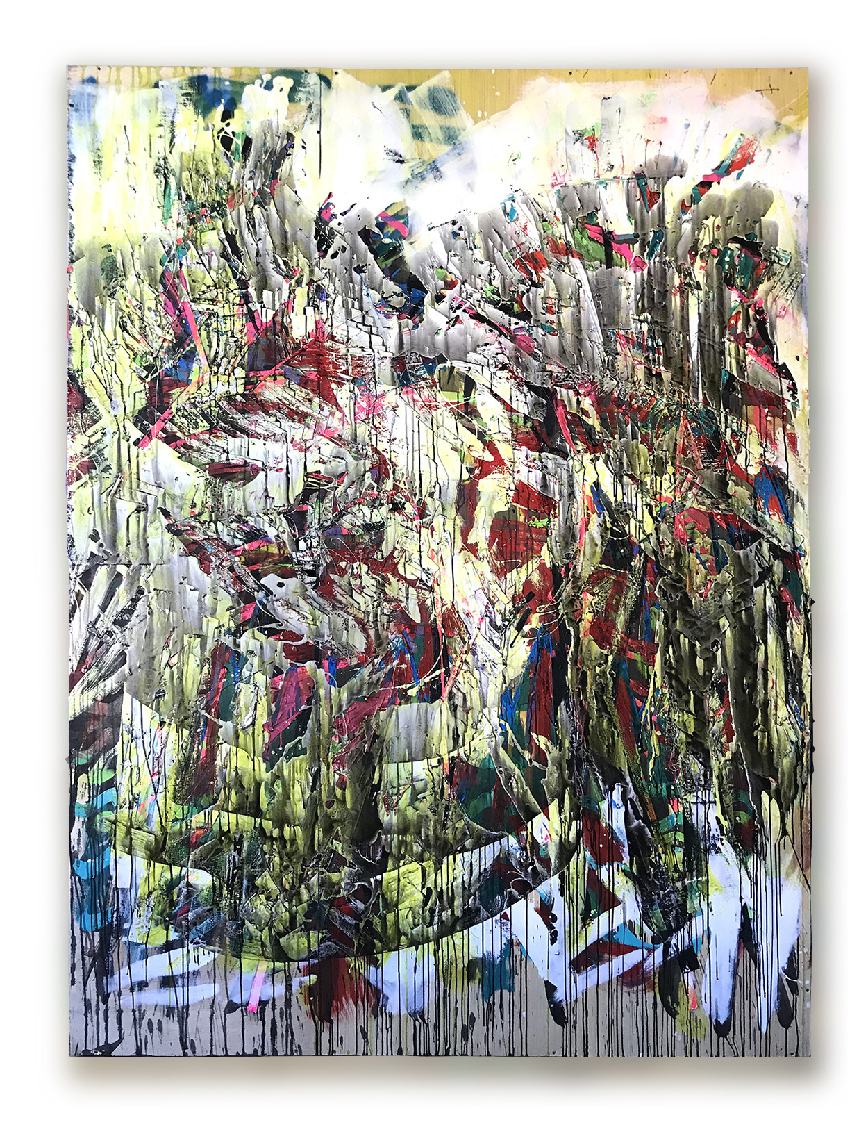 """ JUNGLE II "" wood, metal & acrylic 2.43 X 1.82 meters -2019"