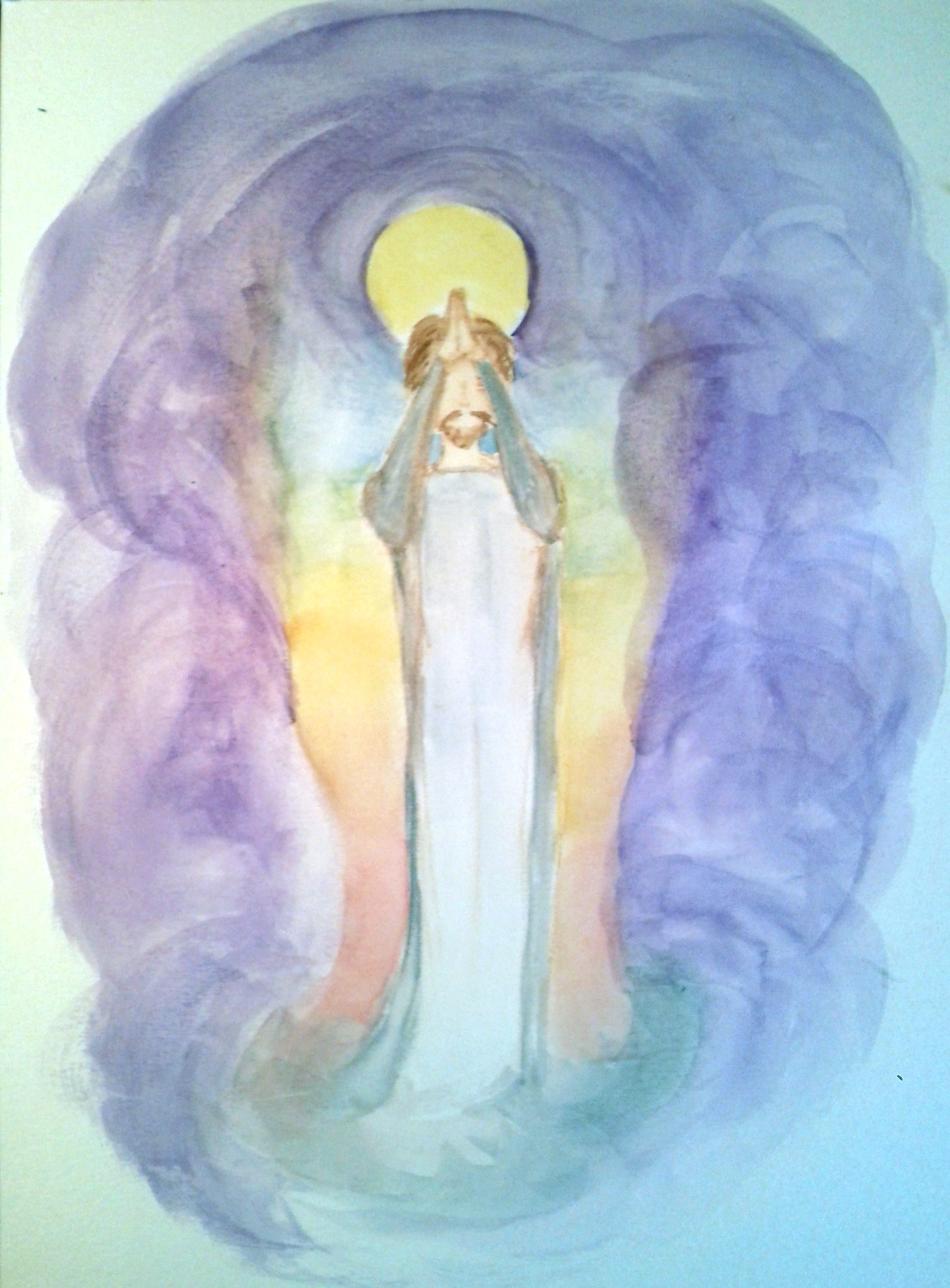 saint-germaine, reiki-infused painting.