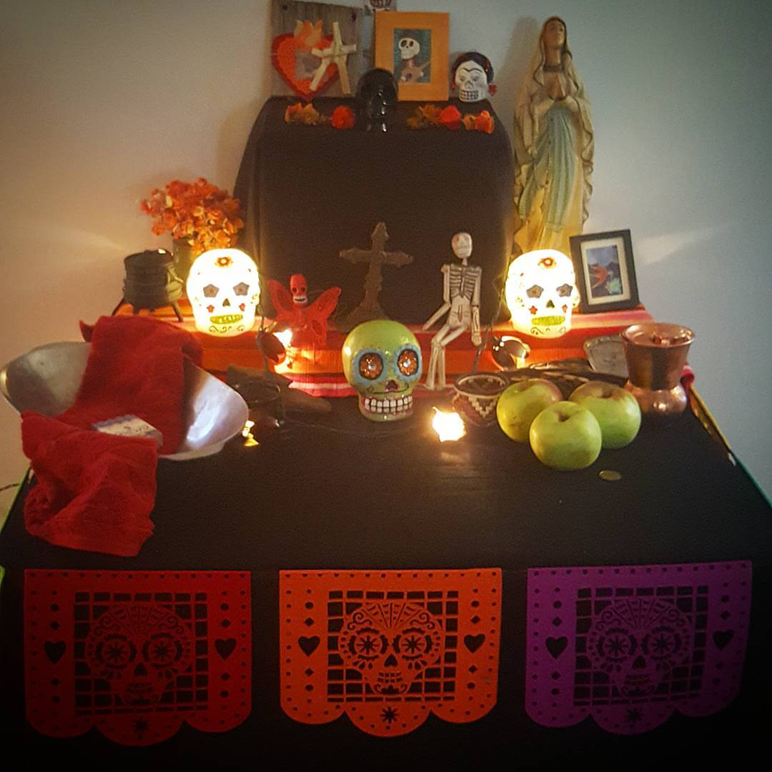 Community Dia de los Muertos altar at Alta View Wellness in 2016