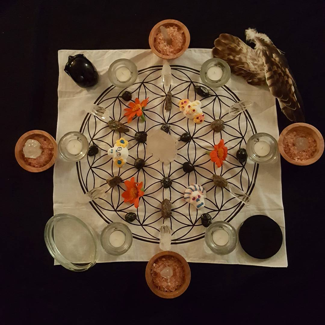 Dia de los Muertos grid for connecting with the ancestors—Apache Tear,