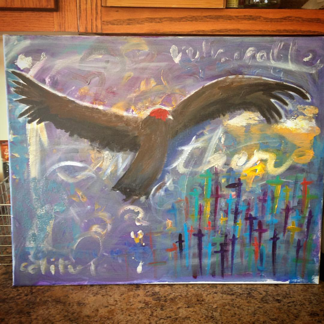 Sister Vulture, painted in 2015