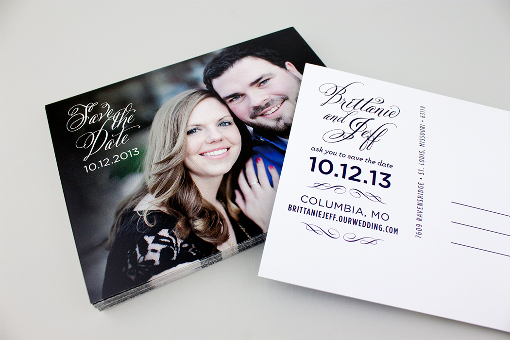 Brittanie & Jeff Postcard Save the Date