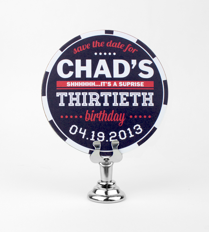 Chad 30th Birthday Coaster Save the Date