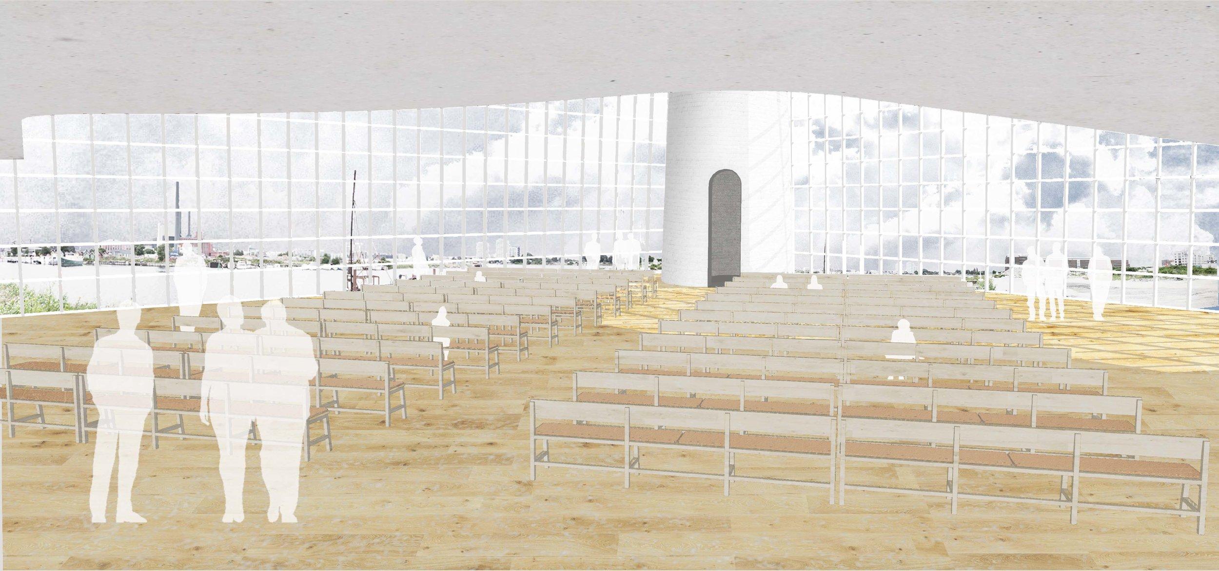 Church Space Visualization, Megan Blake, 2016.