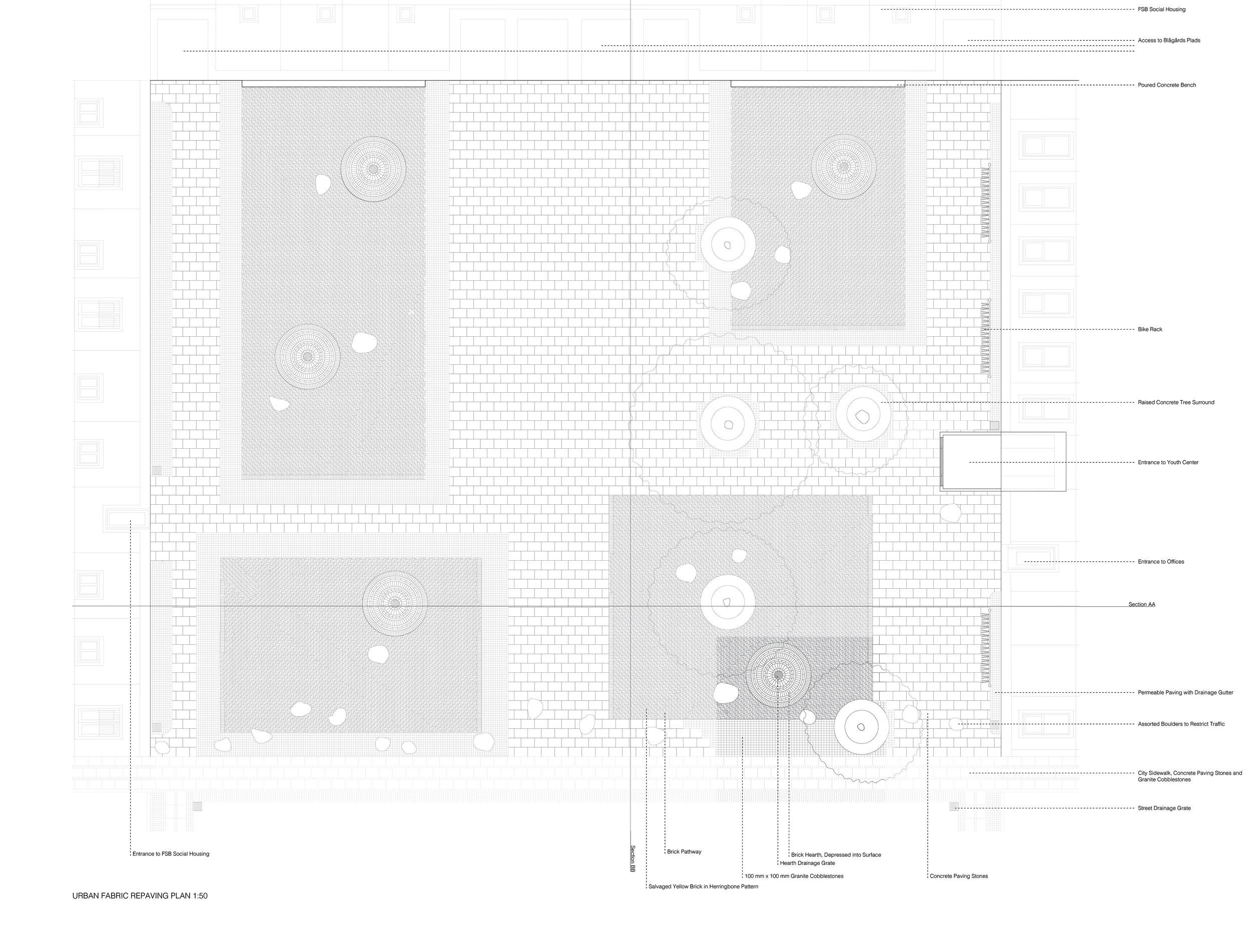 Red Square Paving Plan, Megan Blake, 2015.