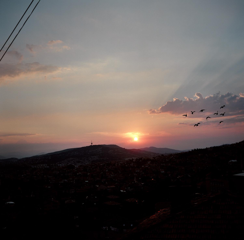 Sunset. Sarajevo, Bosnia and Herzegovina, August 2012.