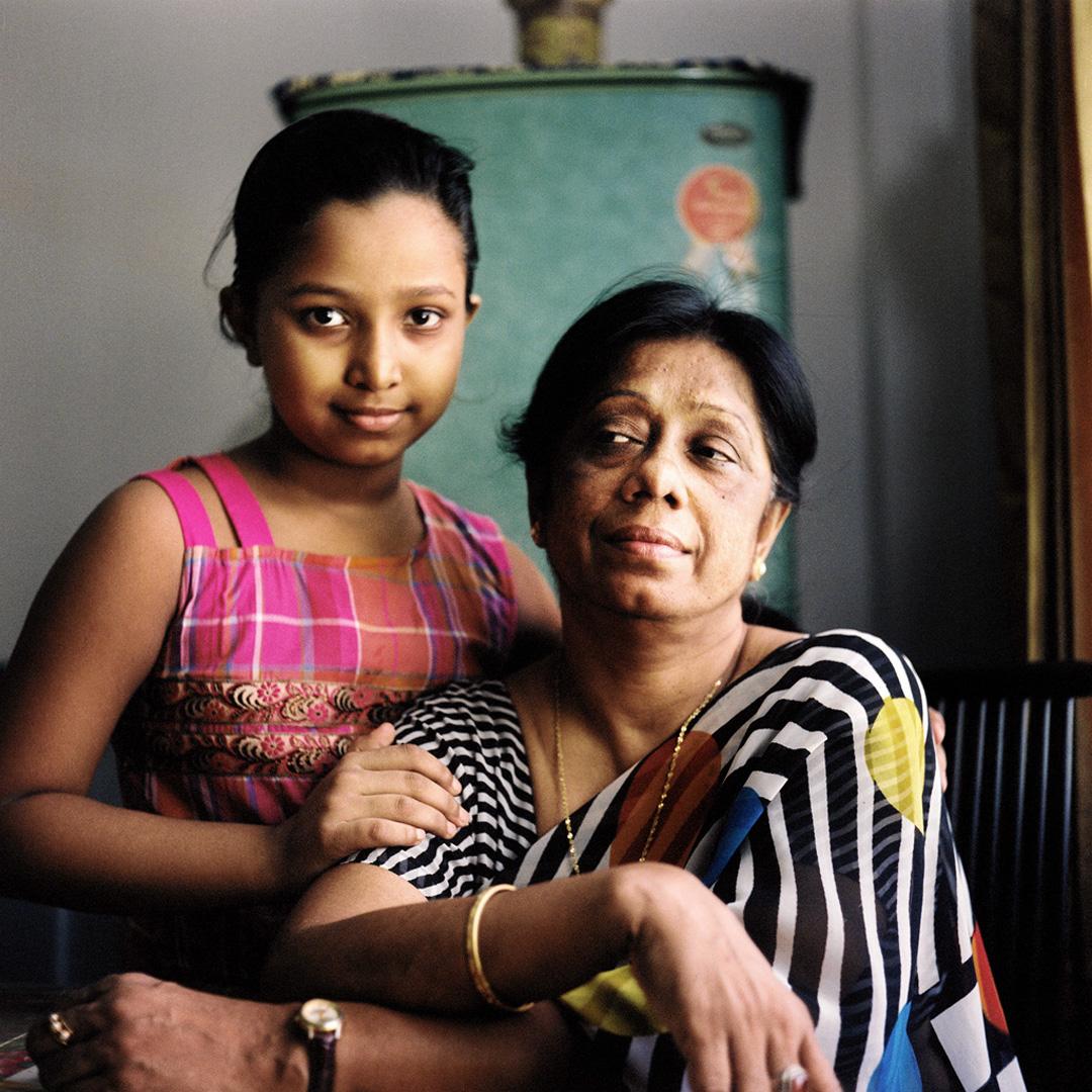 Begum Gulferdous, with granddaughter. Comilla, Bangladesh, August 2011.