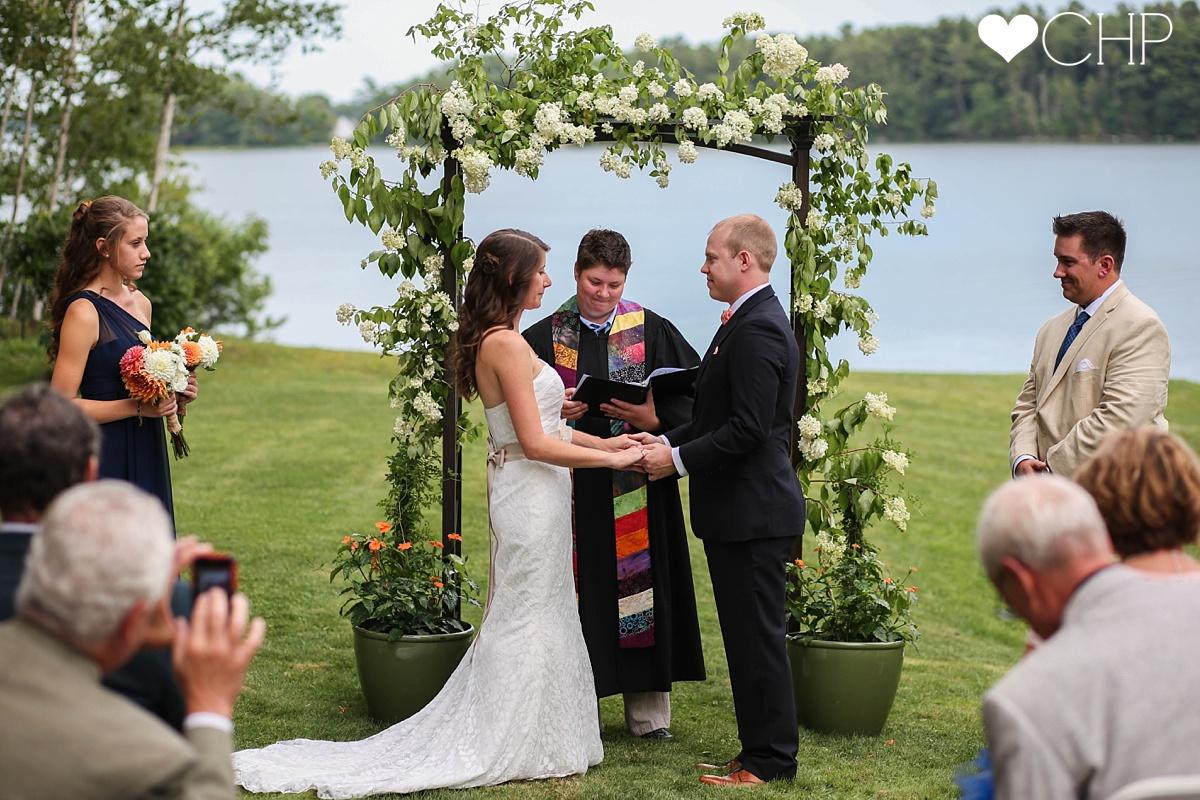 Maine Wedding ceremony