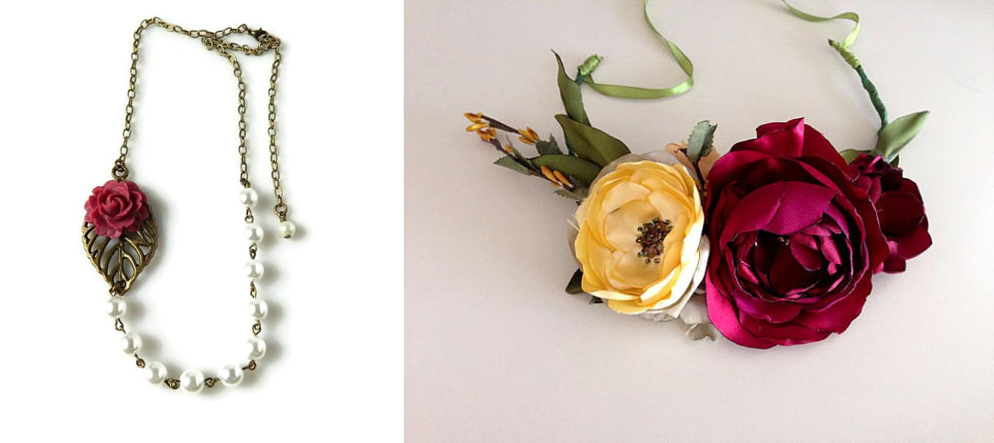 SOURCES:  Necklace /  Flower crown