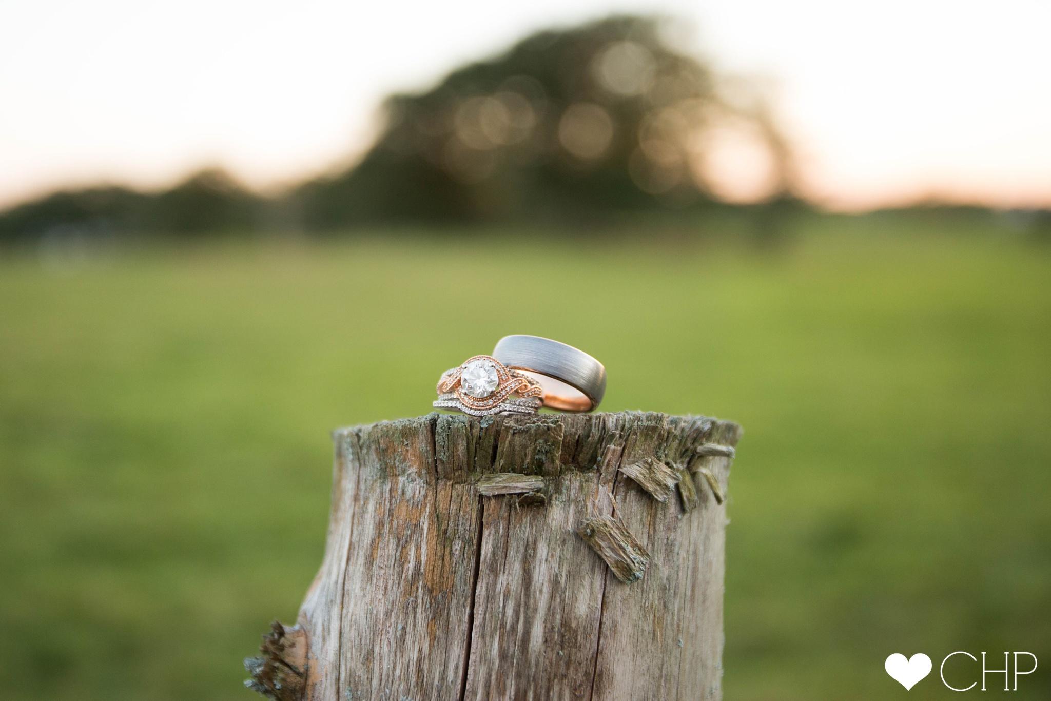Farm Wedding Ring shot