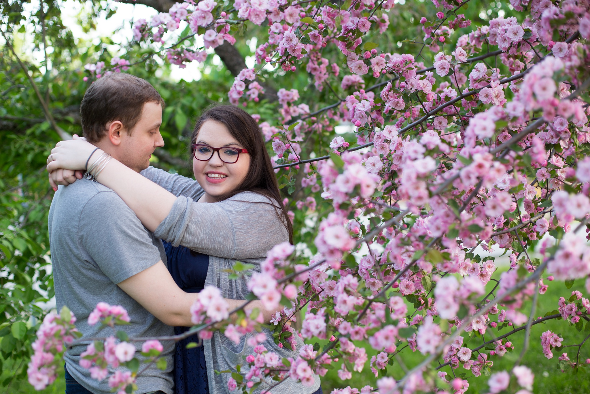 Engagement Session with flowers