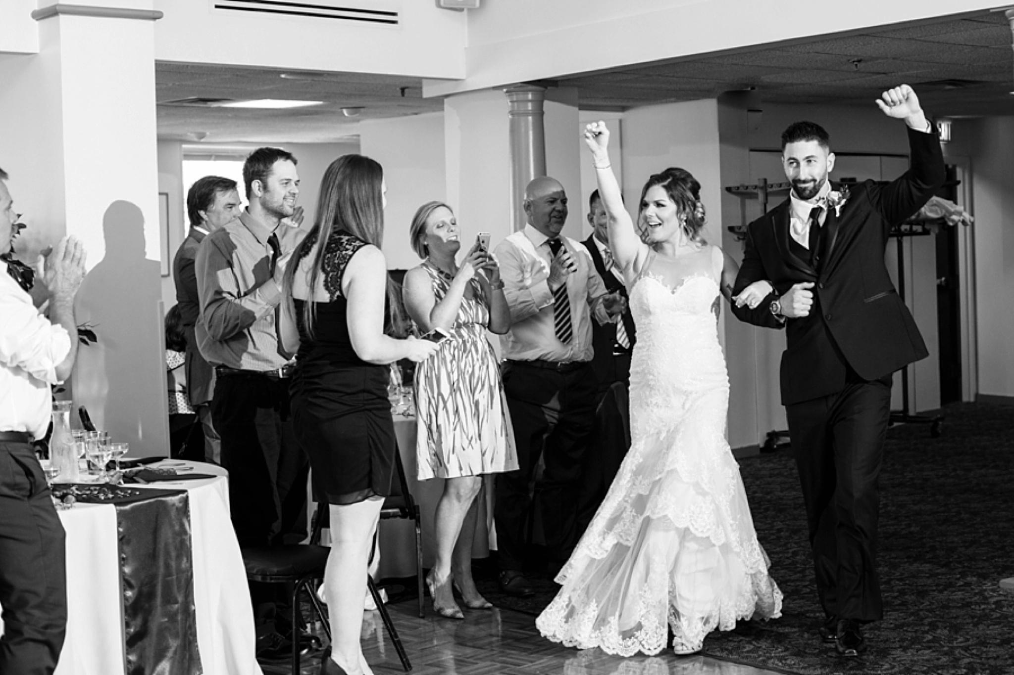 bride and groom entrances