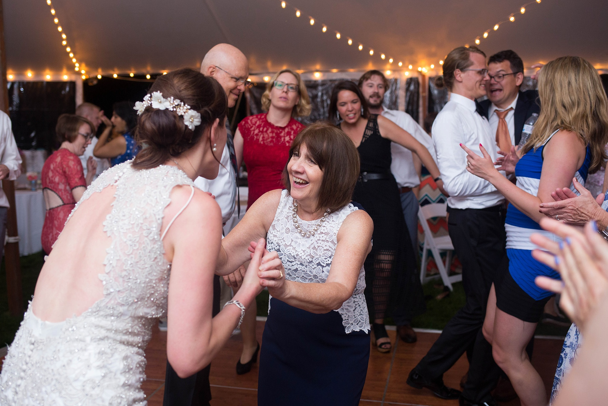 mom and bride at wedding